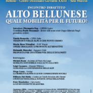 Convegno mobilità Alto Bellunese sabato 19 nov a Belluno