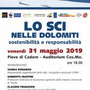"""""""Lo sci nelle Dolomiti"""", Pieve di Cadore, venerdì 31 maggio ore 18.00, incontro pubblico"""