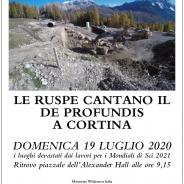 Le ruspe cantano il De Profundis a Cortina, marcia domenica 19-07